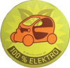 "TWIZY Sticker ""100% Elektro"""